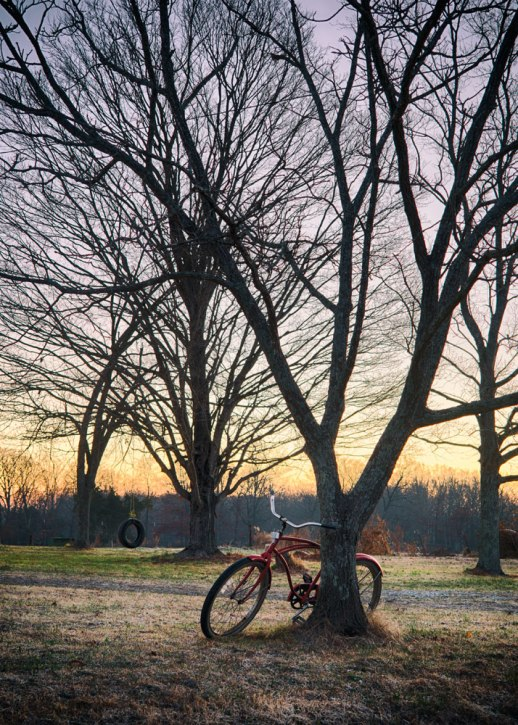 """Red Bicycle"", Lakewood Park, TN ~ © ALL IMAGES COPYRIGHT PROTECTED. ALL RIGHTS RESERVED. – DAVID L. MOREL ~ 2014"