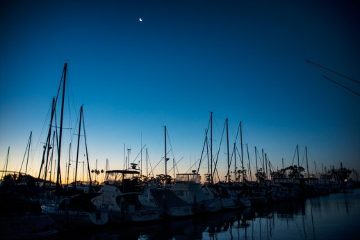 """Moon-set Over Dana Point Harbor"", Dana Point, CA ~ © ALL IMAGES COPYRIGHT PROTECTED. ALL RIGHTS RESERVED. – DAVID L. MOREL ~ 2015"