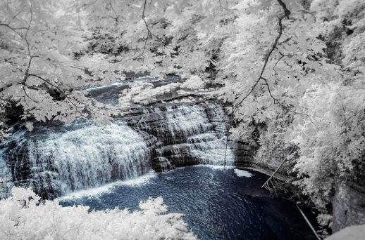 """Middle Falls at Burgess Falls (IR)"" © ALL IMAGES COPYRIGHT PROTECTED. ALL RIGHTS RESERVED. – DAVID L. MOREL ~ 2015"