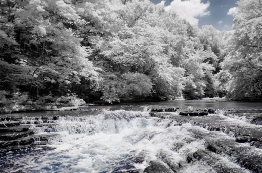 """""""Cascades Above Burgess Falls (IR)"""" © ALL IMAGES COPYRIGHT PROTECTED. ALL RIGHTS RESERVED. – DAVID L. MOREL ~ 2015"""